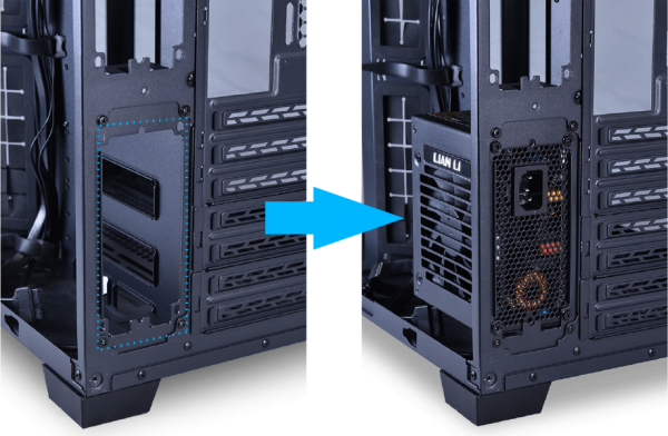O11D_MINI_Dual_PSU_Bracket_Kit_Easy_installation